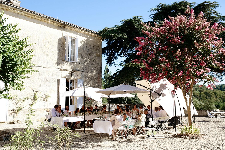 chateau lagorce wedding outdoor reception photo