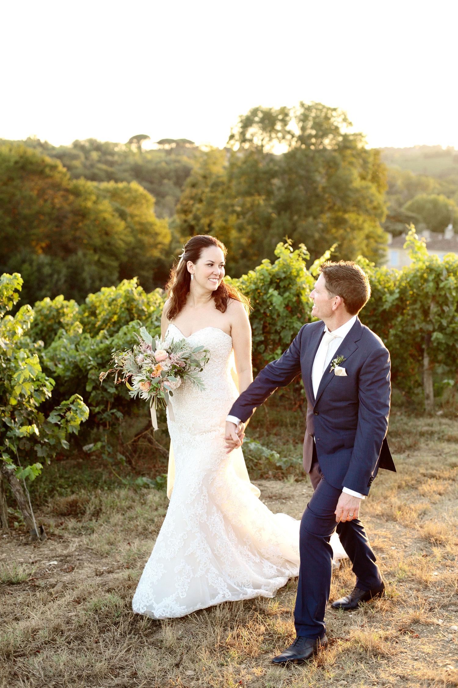 Chateau Lagorce wedding photos bride and groom