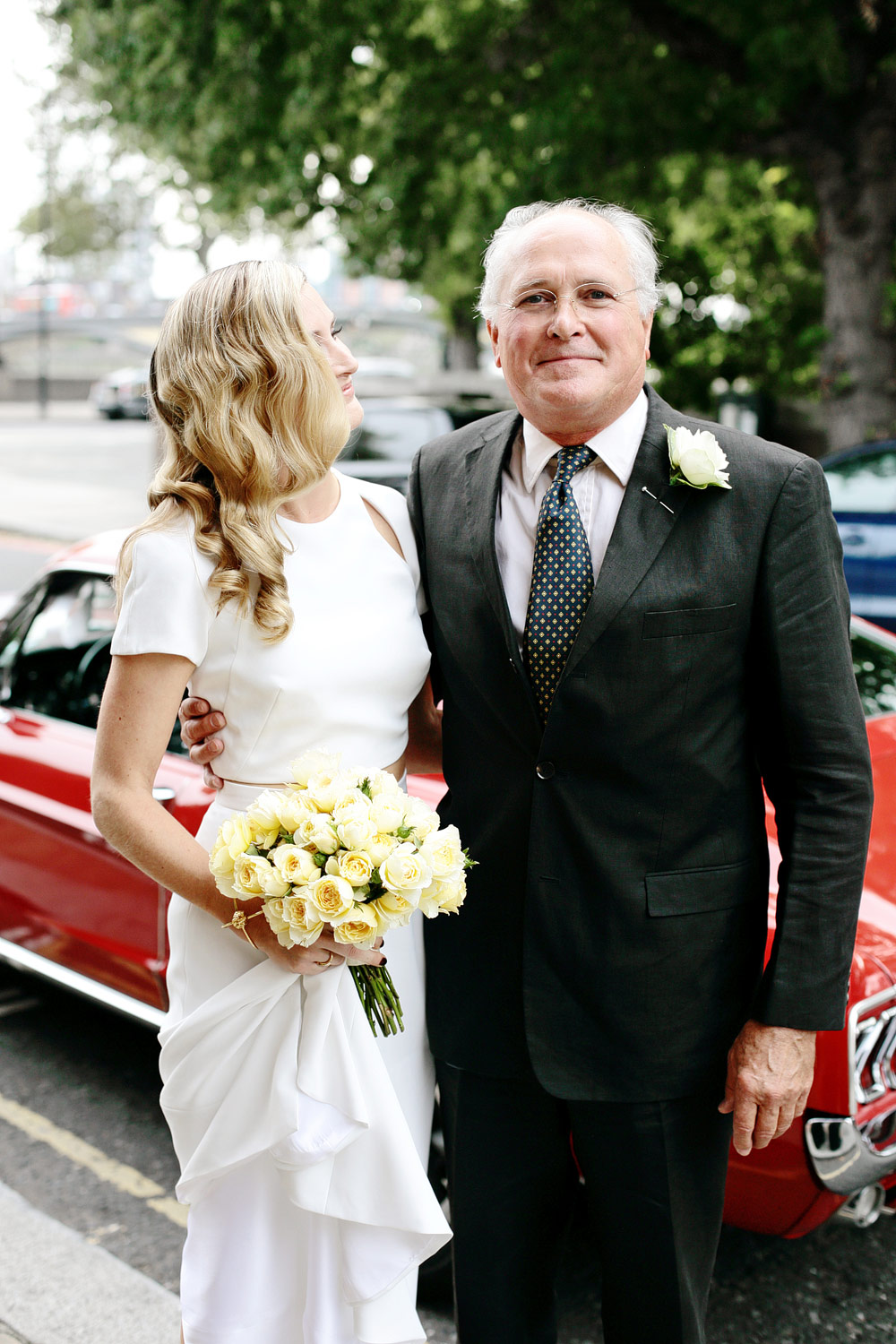bride and father photo london wedding