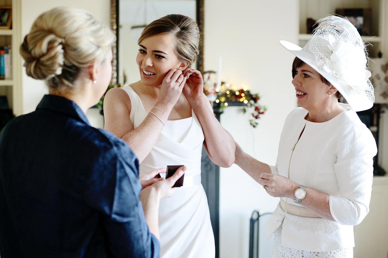 clonabreany house wedding bride getting ready