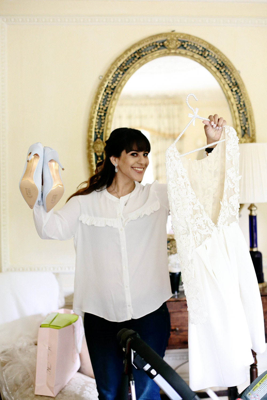 bride getting ready at Cliff at Lyons photo