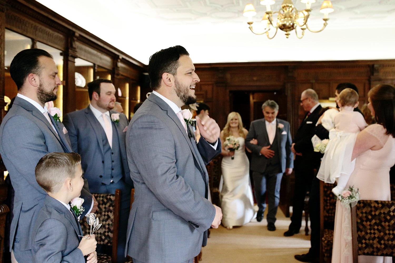 Bride entrance Hever Castle weddings
