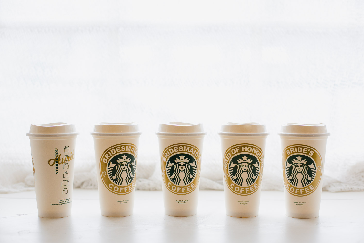 personalised wedding starbucks cups