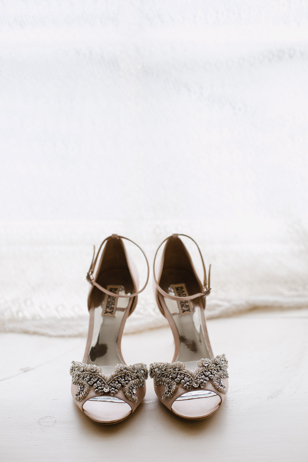 blush wedding shoes photo