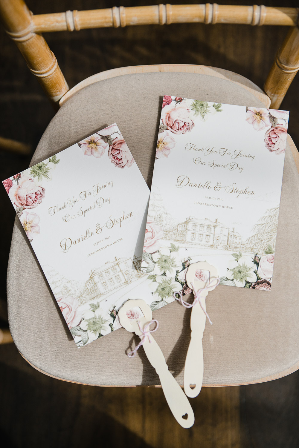 wedding ceremony program tankardstown house
