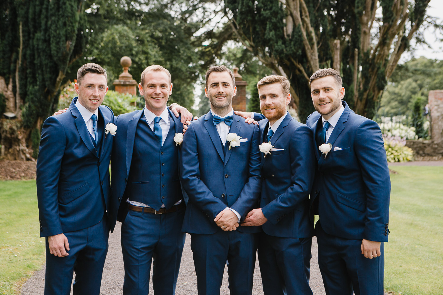 groom with groomsmen photo tankardstown wedding