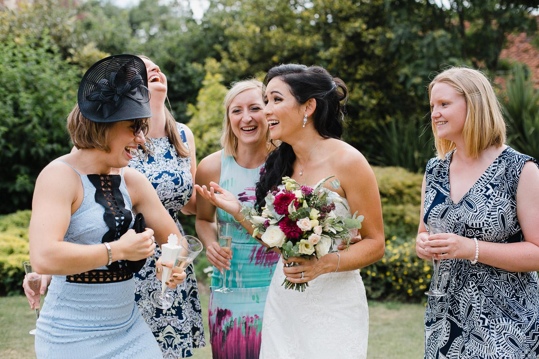 guests having fun at dorney court wedding
