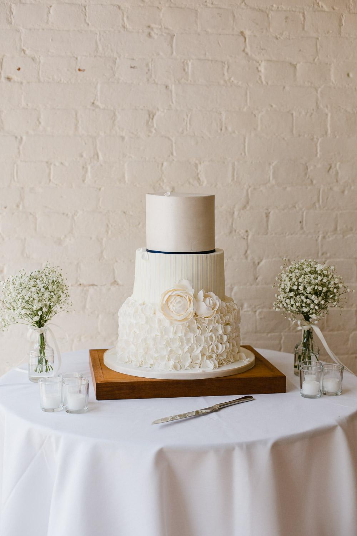 white wedding cake for dorney court wedding