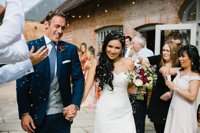 confetti photo dorney court wedding berkshire