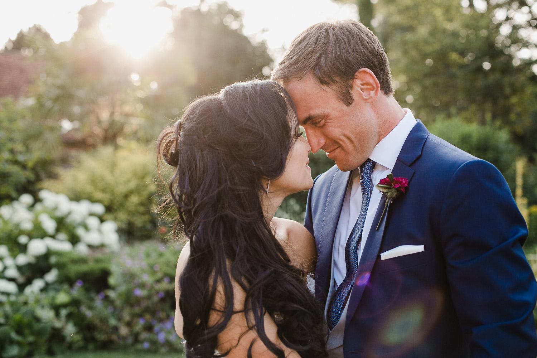 sunset wedding photo at dorney court