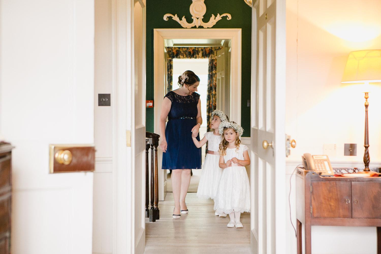 flowersgirls at dumfries house wedding