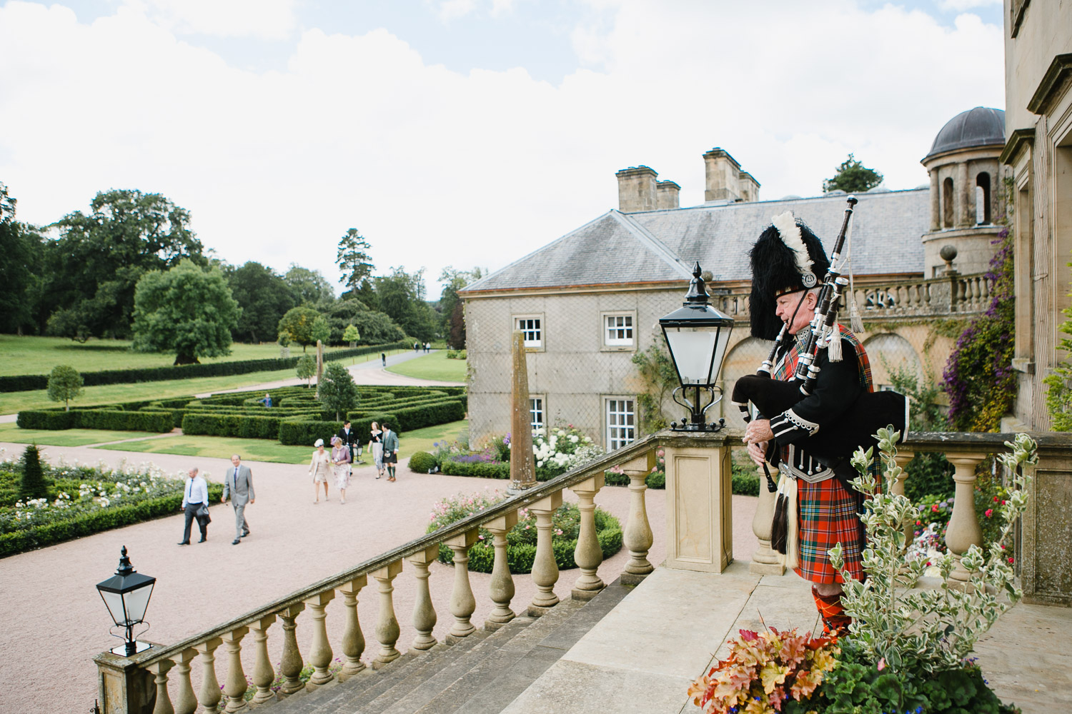 dumfries house wedding piper photo