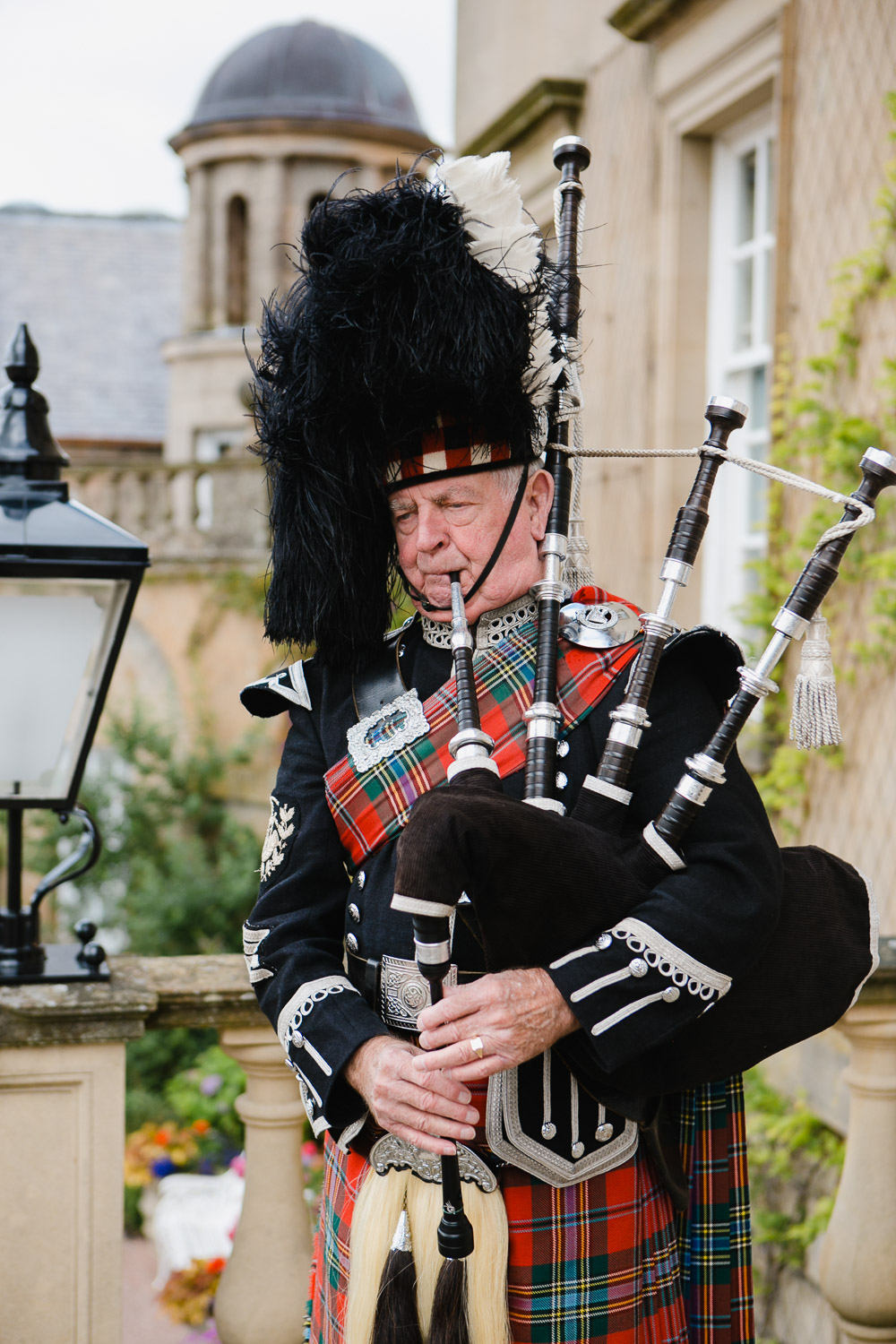 Piper at Dumfries House wedding photo