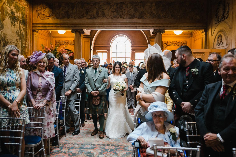 wedding ceremony at Dumfries House Ayrshire