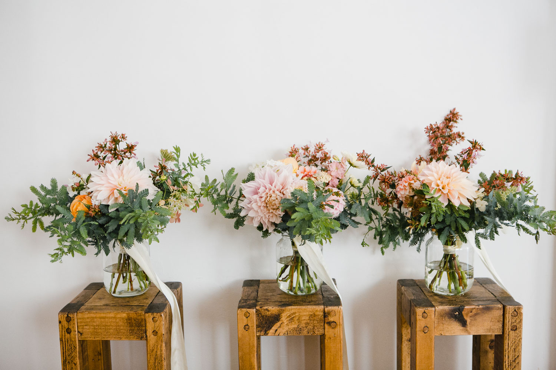 wedding bouquets by Cornwall florist Garden Gate Company