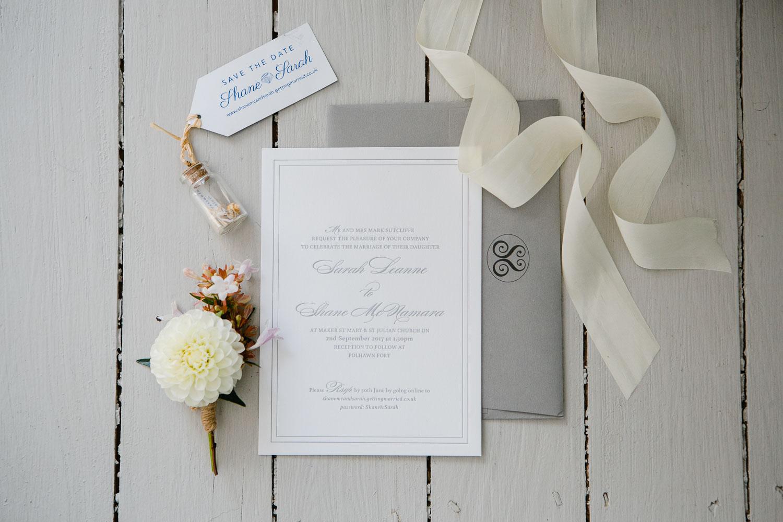 letterpress wedding stationery designer in Ireland