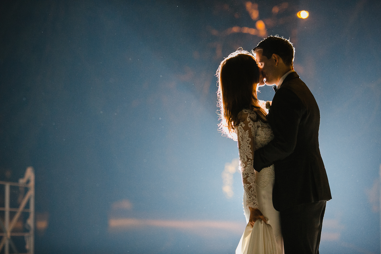 creative bride and groom photo at Ballymagarvey Village