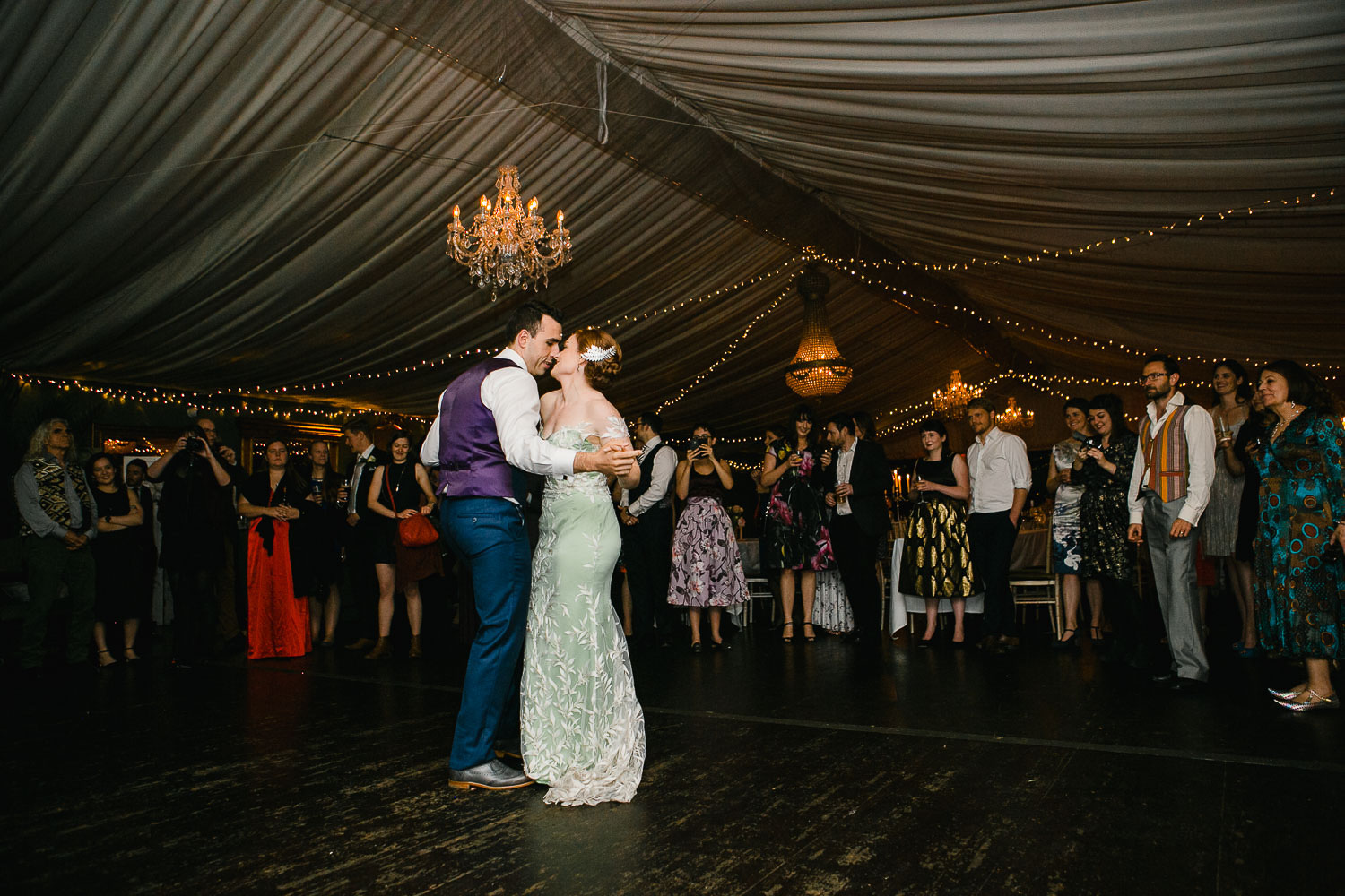 First Dance Wedding Photo In Tinakilly House