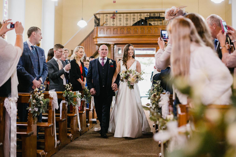 Bride Entering Church Photo