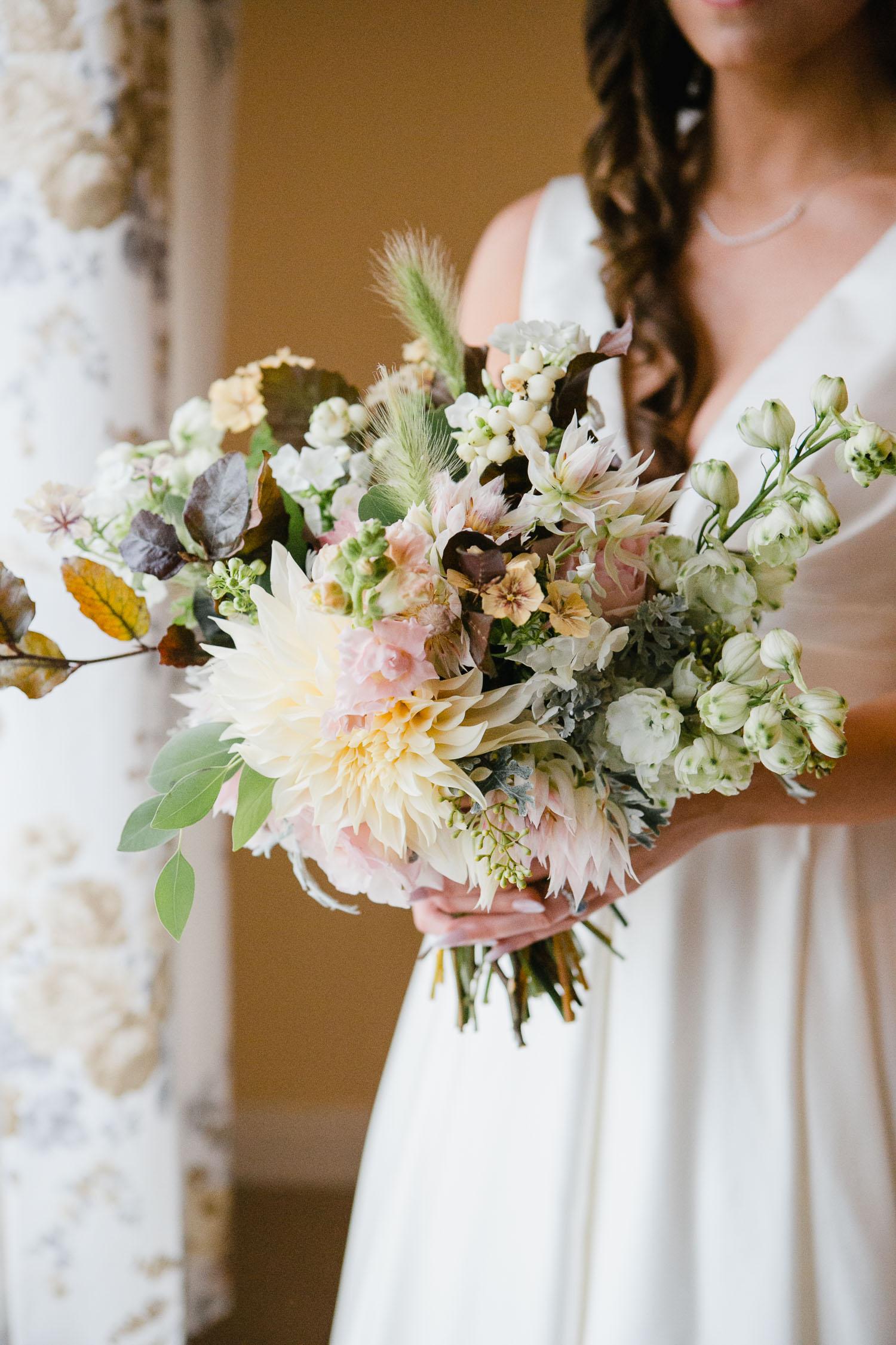Pastel Bridal Bouquet For Irish Wedding