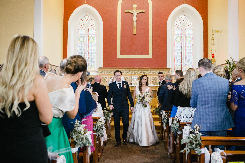 Bride And Groom Ceremony Exit Photo