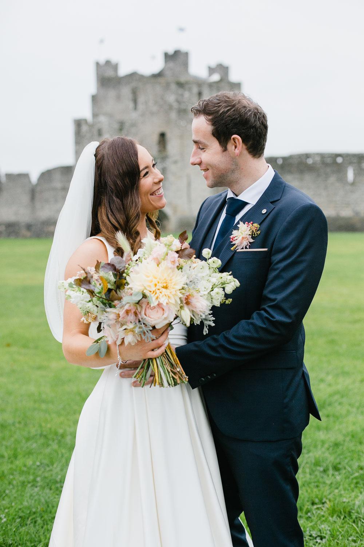 Autumn Wedding In Trim Castle Meath Ireland