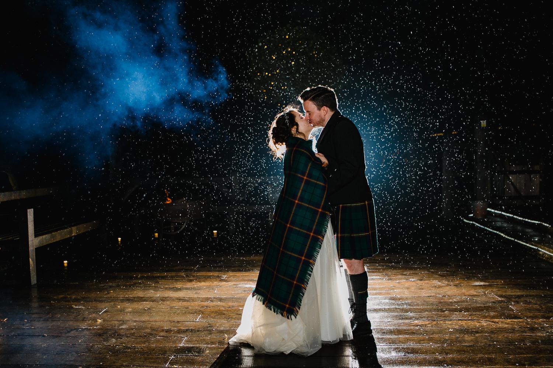 Rainy Wedding Photo At Cripps Barn in Gloucestershire