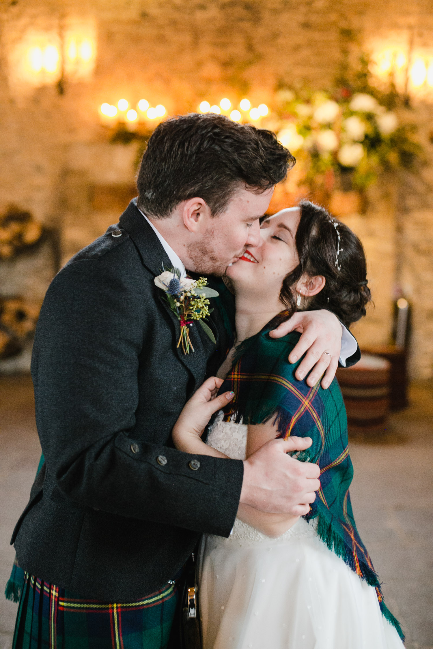 Bride And Groom Portrait In Cripps Barn