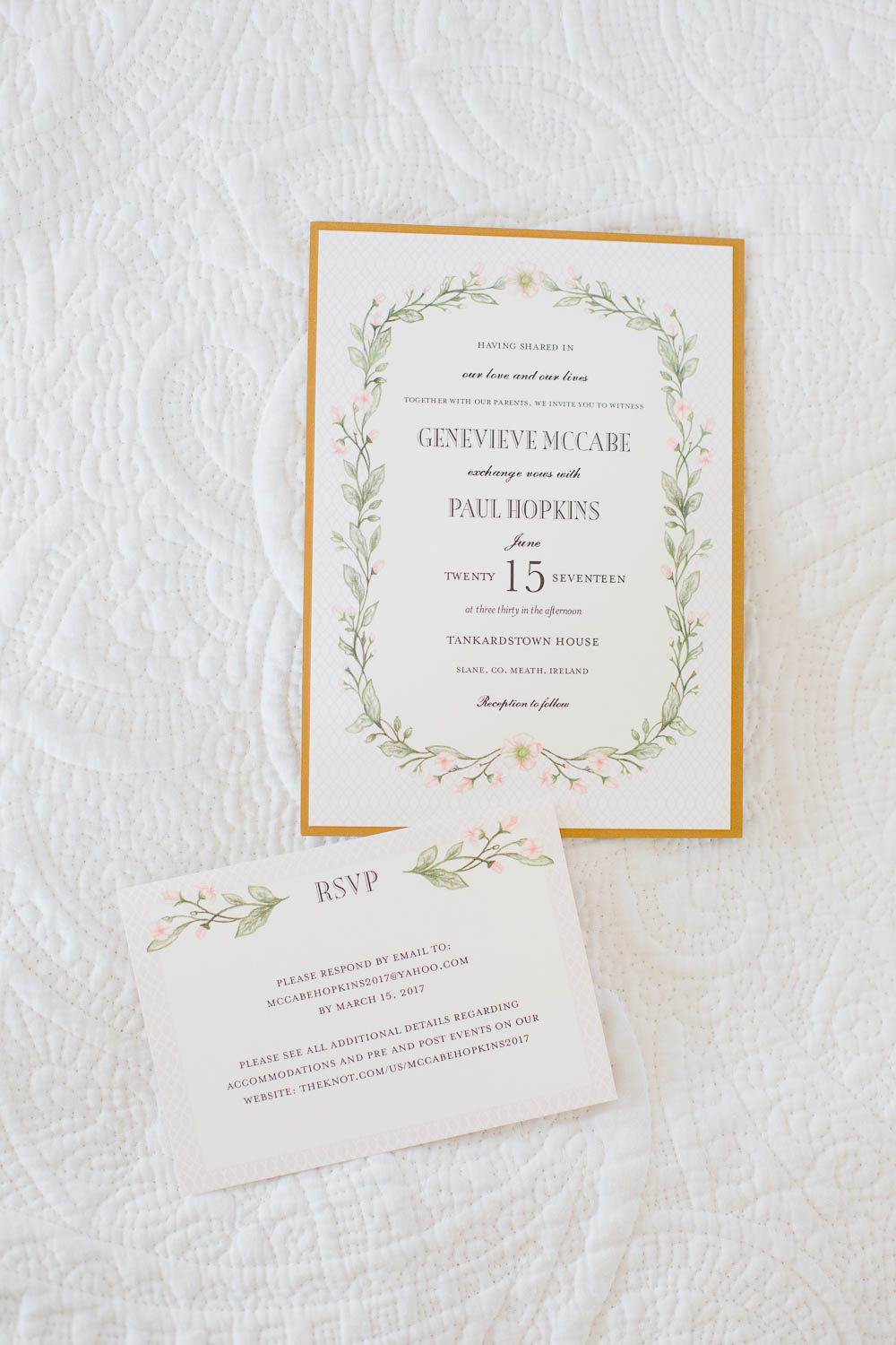 Tankardstown House Wedding Invitations