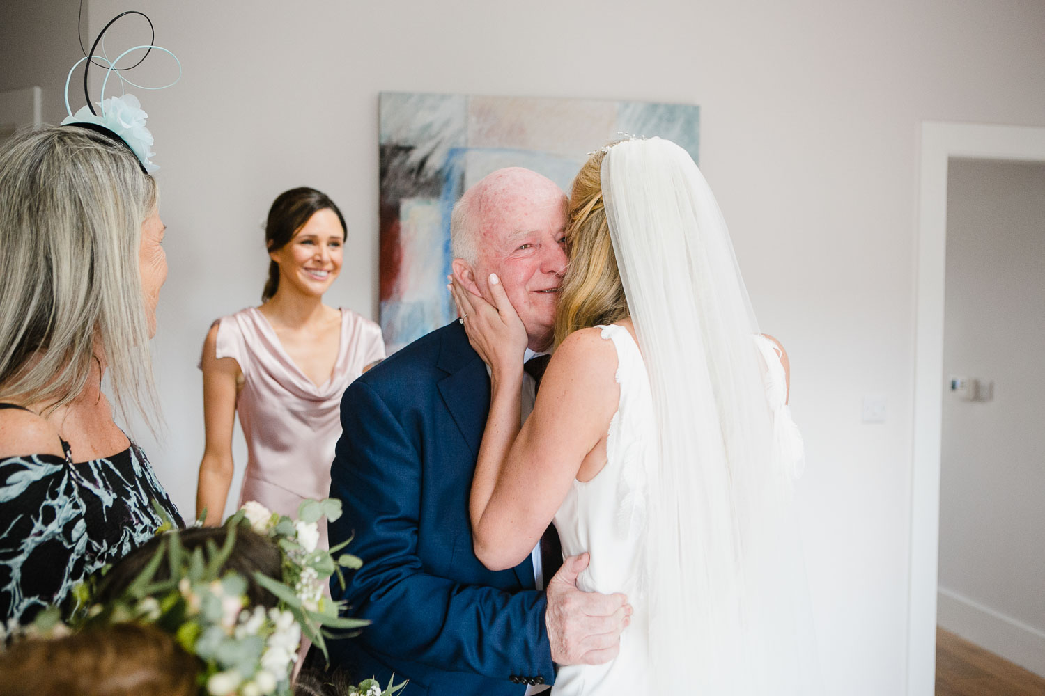 Emotional Photo Of Father And Bride Rosleague Manor