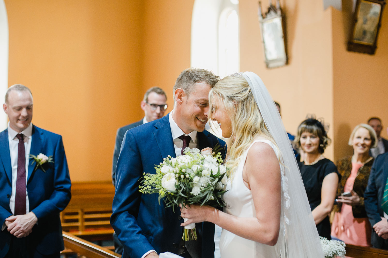 Groom Sees Bride First Time Wedding Ceremony Galway