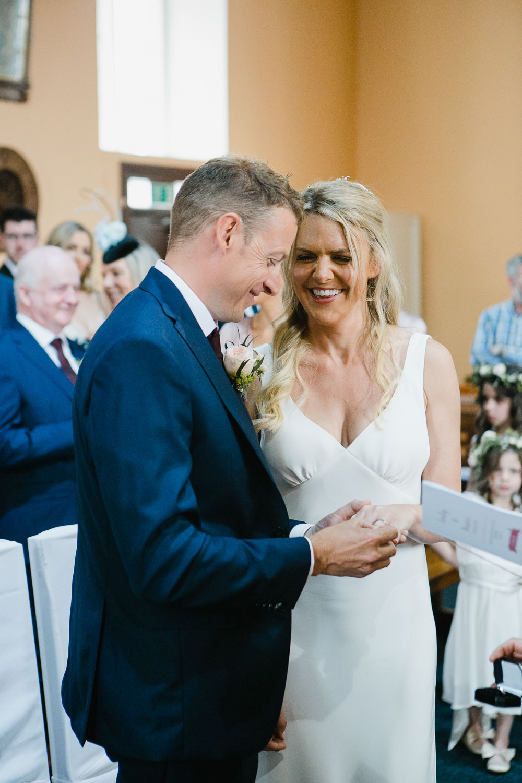 Bride And Groom Ring Exchange Photo Galway Wedding