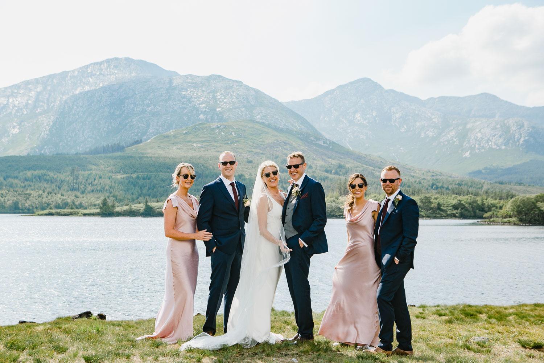 Bridal Party Photo In Connemara National Park