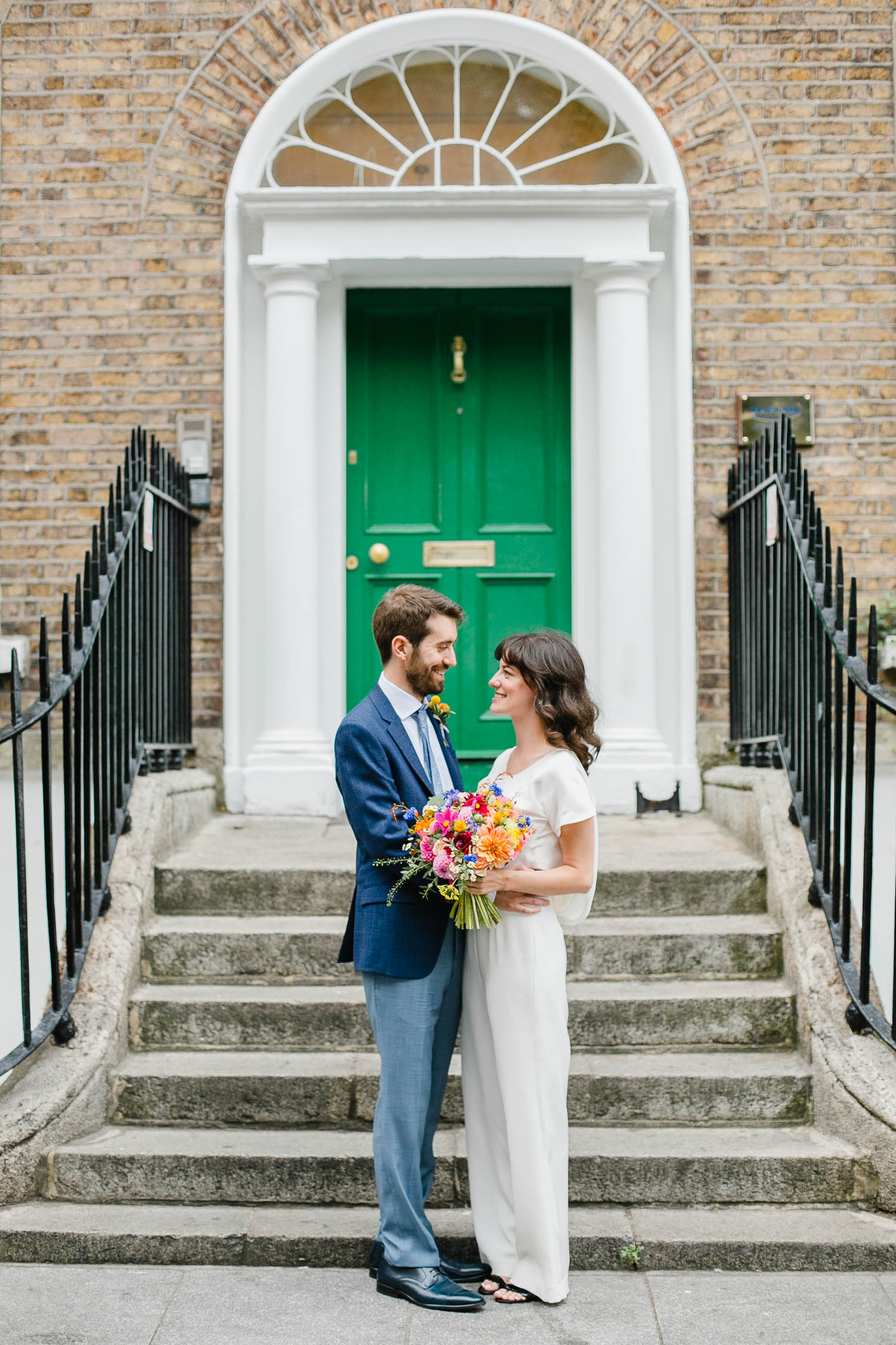 Dublin City Wedding Bride And Groom Photo