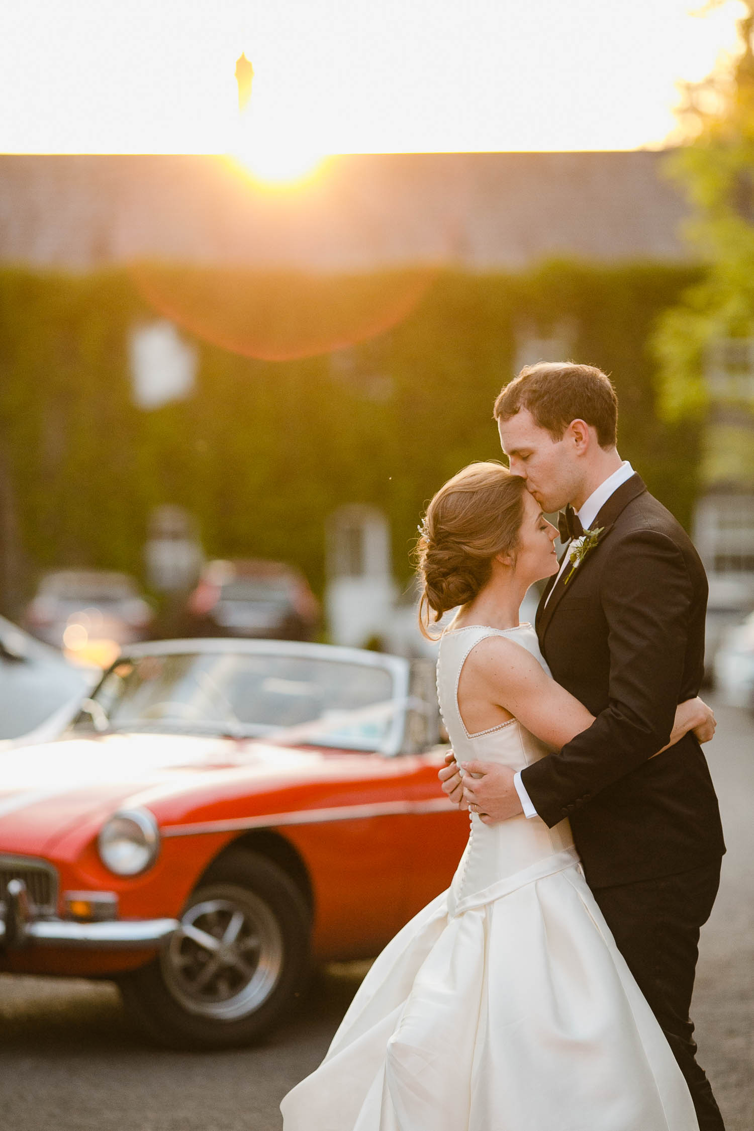 Sunset Bride And Groom Portrait At Virginia Park Lodge