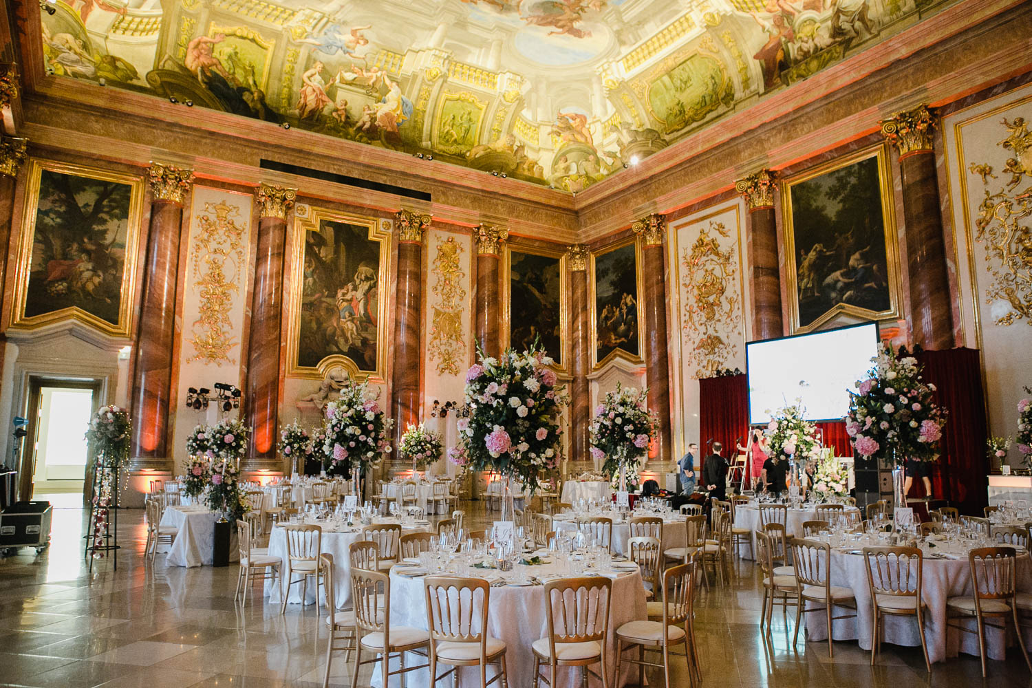 Palais Liechtenstein Wedding Reception Photo