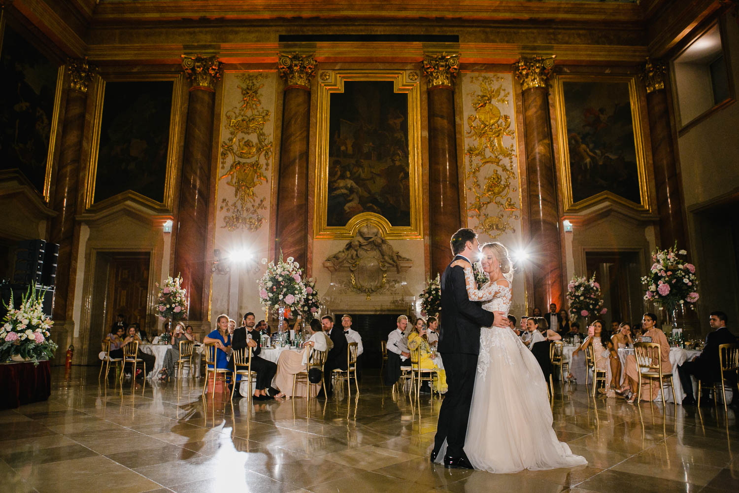Palais Liechtenstein Wedding First Dance In Ballroom Photo