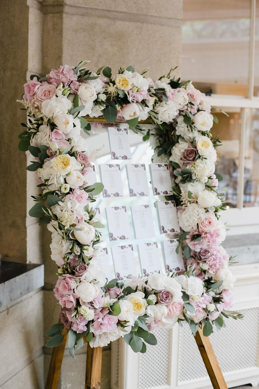 Fresh Flower Table Plan In Tankardstown House