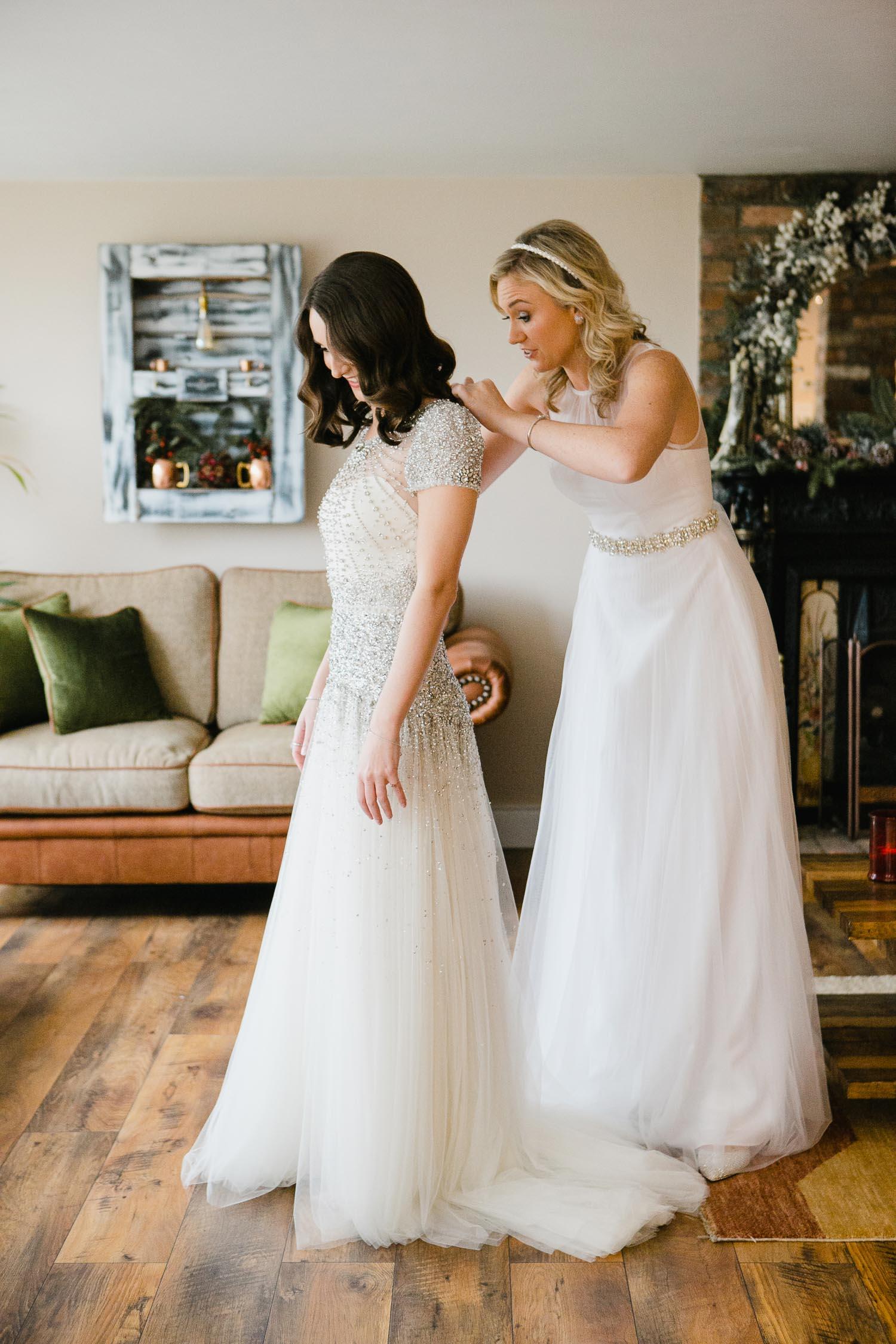 Jenny Packham Dress For Winter Wedding