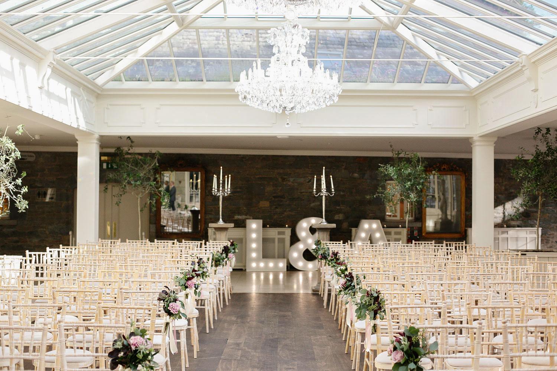Orangery Wedding Reception in Tankardstown House