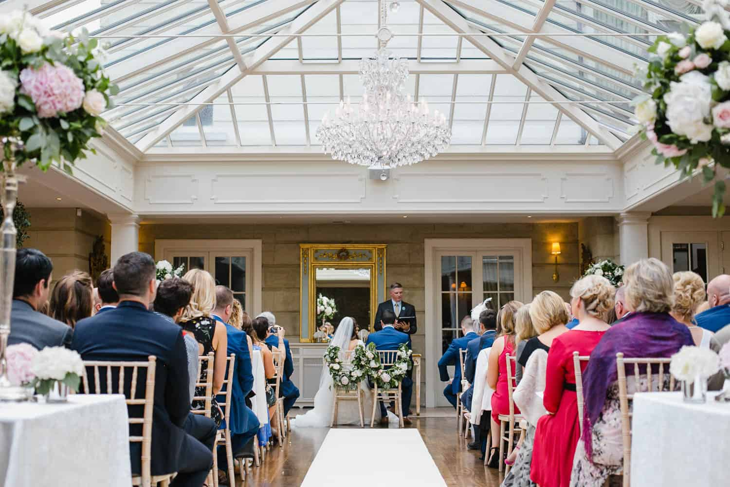 Humanist Wedding Ceremony Set Up In Tankardstown House