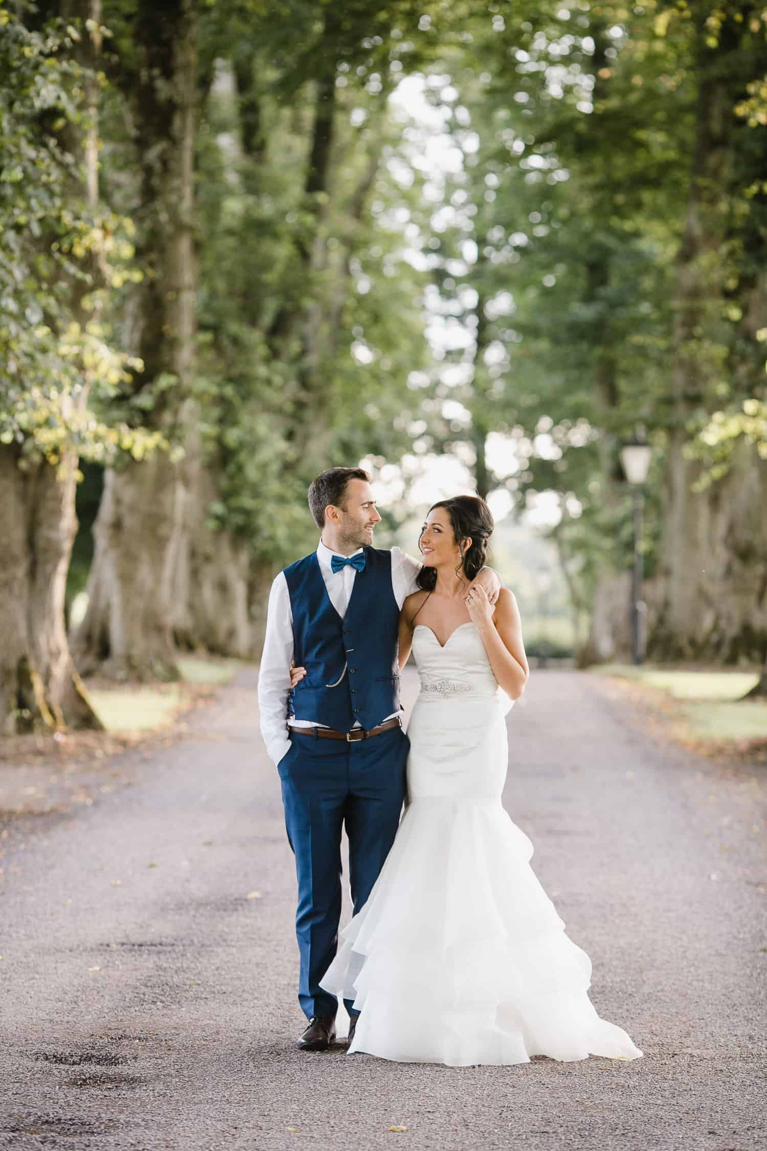 Bride and Groom Photo in Tankardstown House Driveway