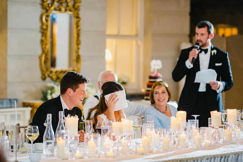 Fun Wedding Speeches in Tankardstown House