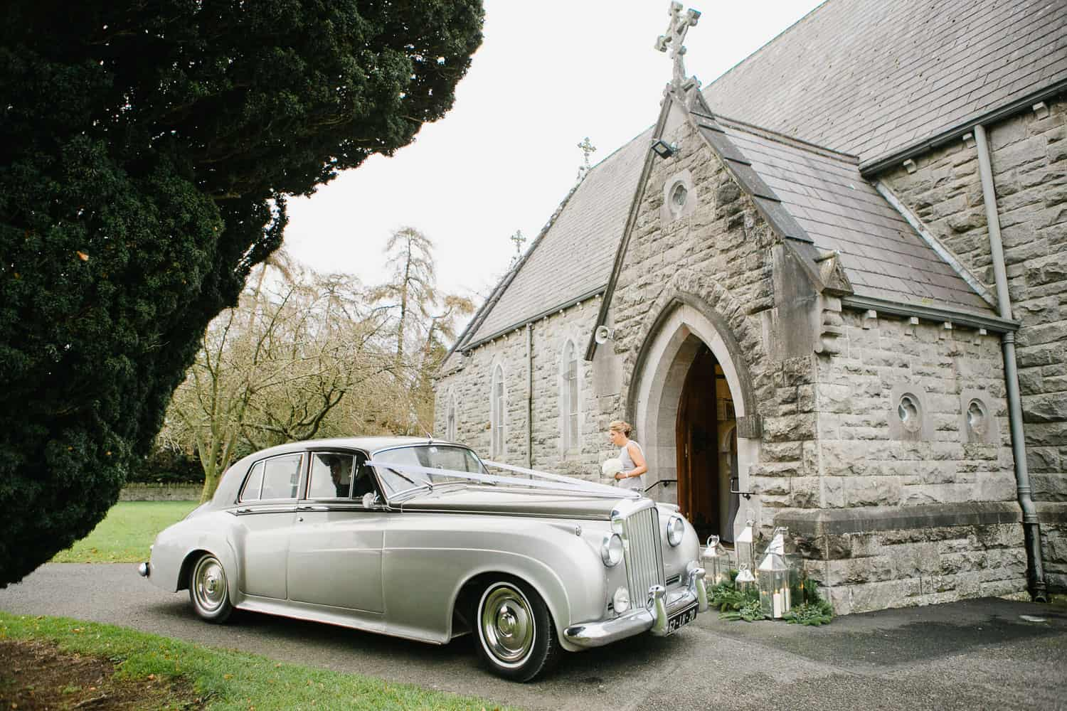 Bride Arrives At Rathfeigh Church For Wedding Ceremony