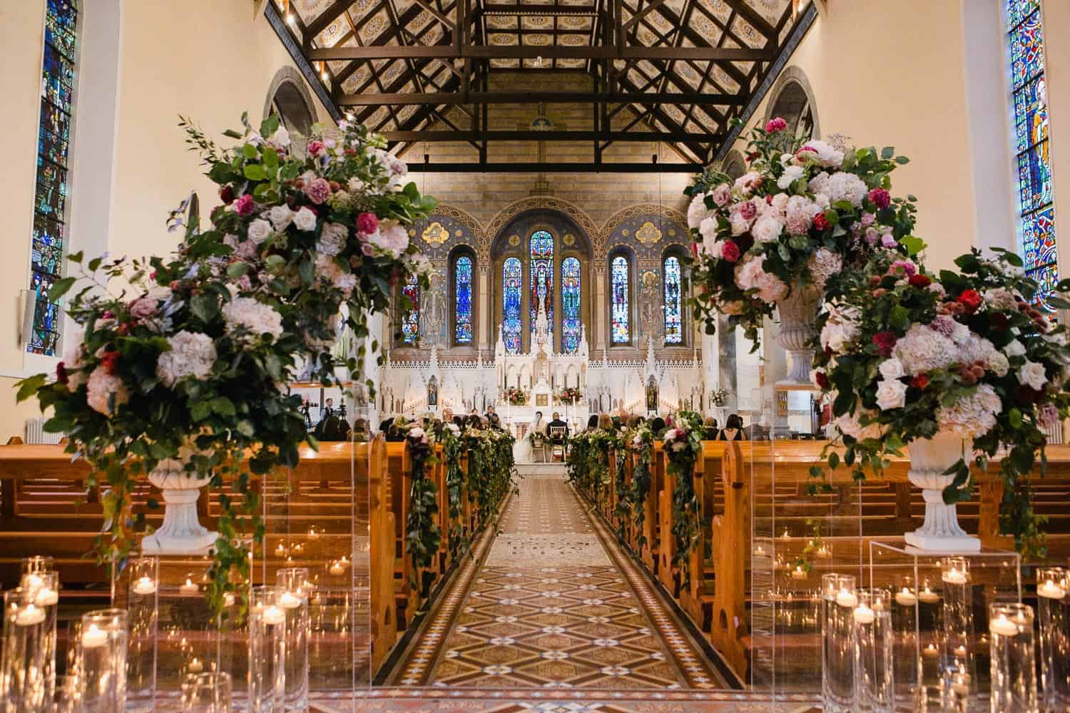 Wedding Decor and Flowers in the St.Senan's Church