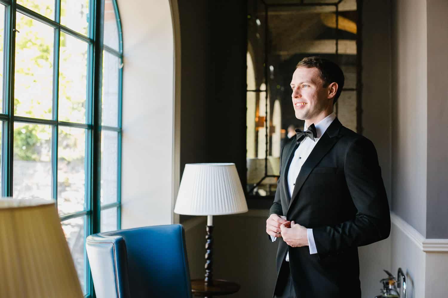 Portrait of a Groom in Virginia Park Lodge