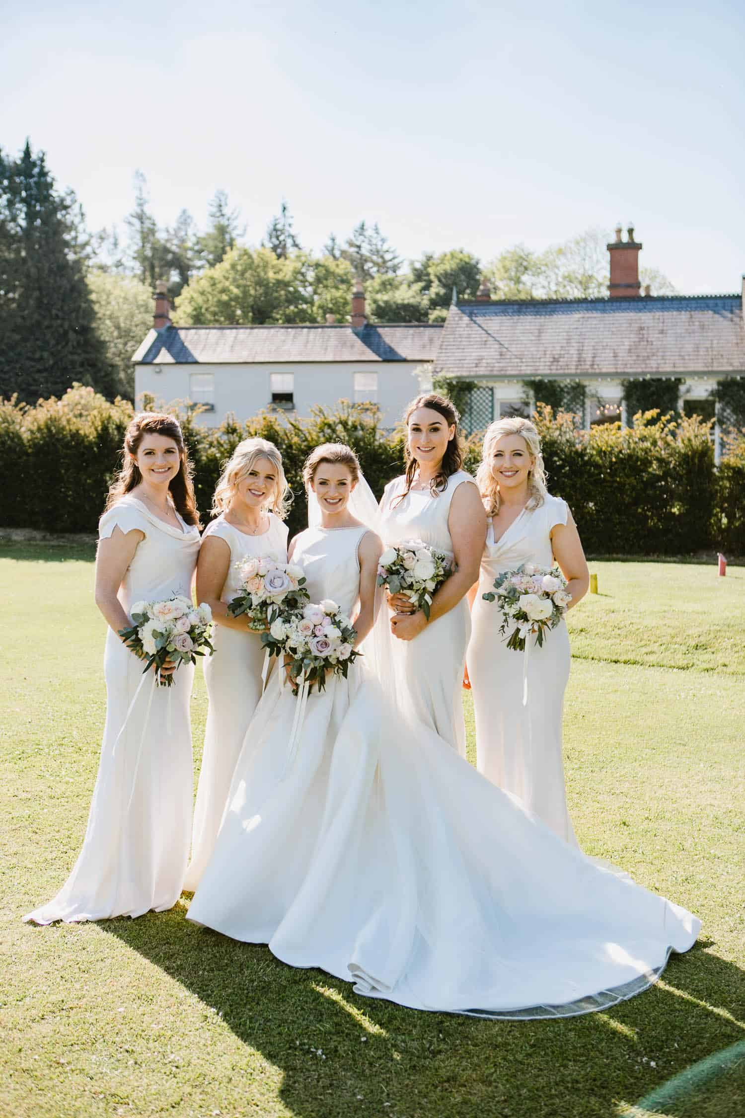 Photo of Bridesmaids Outside Virginia Park Lodge