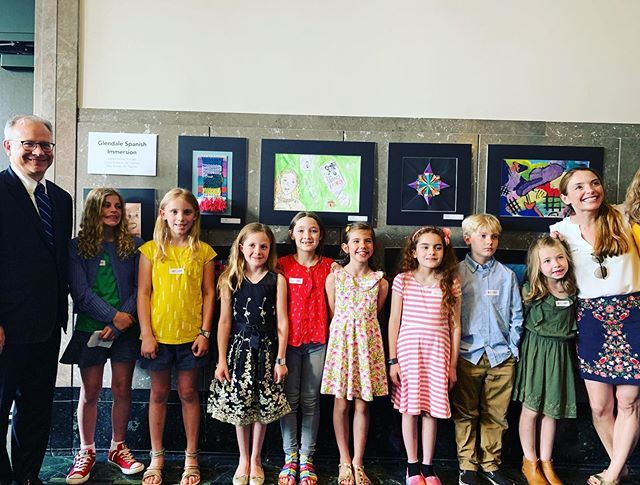 Congrats to our Glendale artists, whose work was selected for the Mayor's Art Show at the Frist last Thursday night. Ms. Scanlan & Ms. Knestrick chose pieces from two students per grade, and their art will hang at the Frist through May 16th along with some really amazing pieces from other Metro school students. Go check it out!