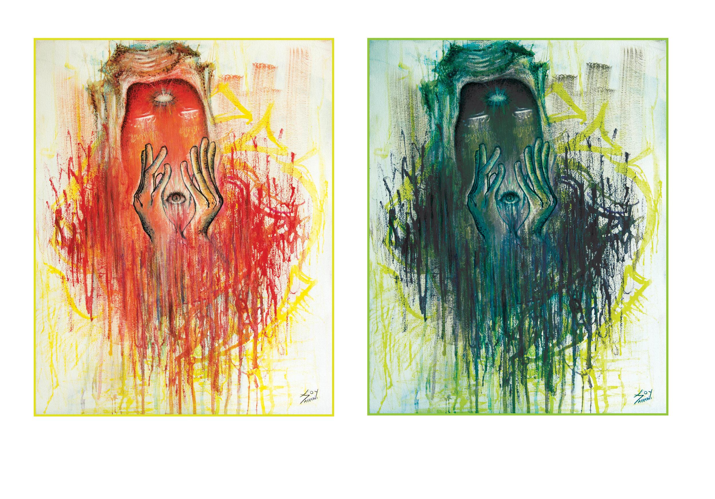 Response   acrylic on canvas  + digital manipulation