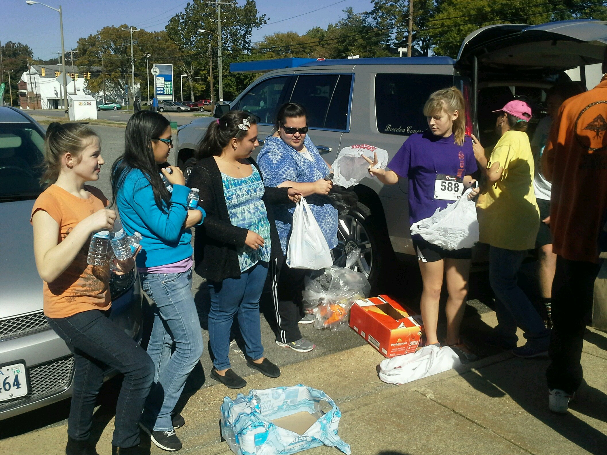 """The """"Rainbow Girls"""" participate as their community service project."""